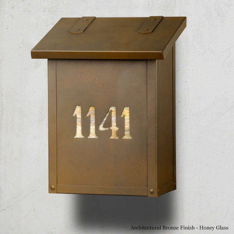 Classic numbers vertical brass wall mailbox mailbox for Classic house numbers