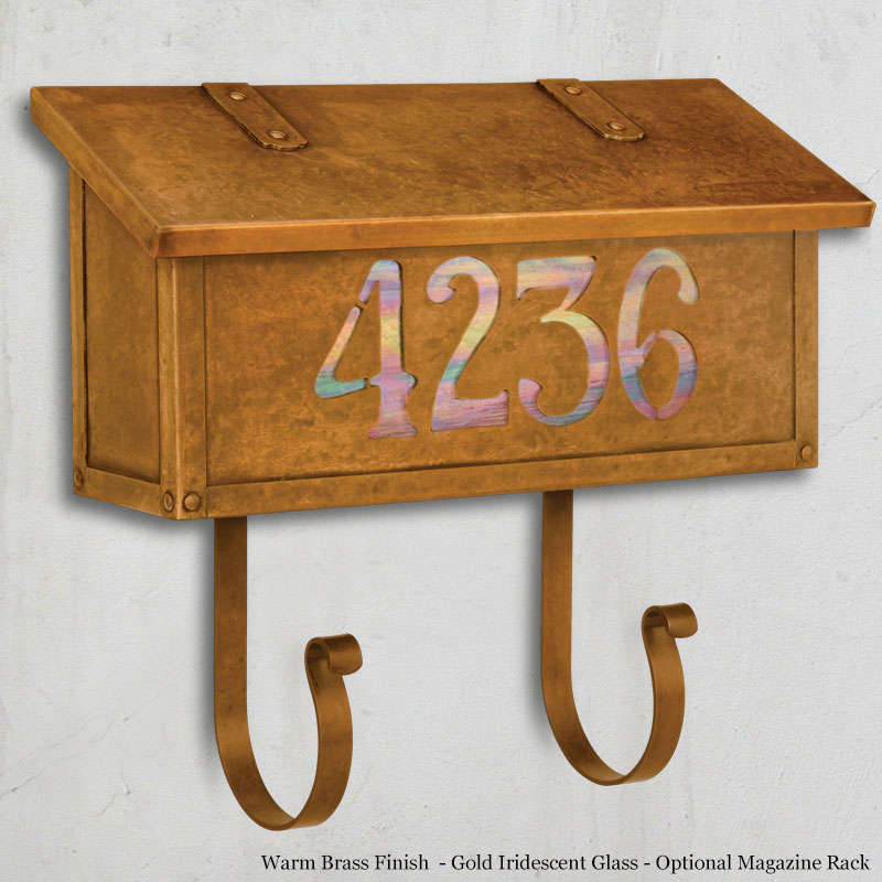 Classic numbers horizontal wall mailbox for Classic house numbers