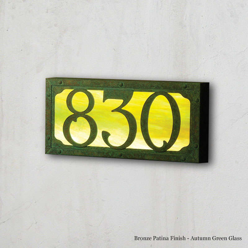 Small Illuminated Number Sign