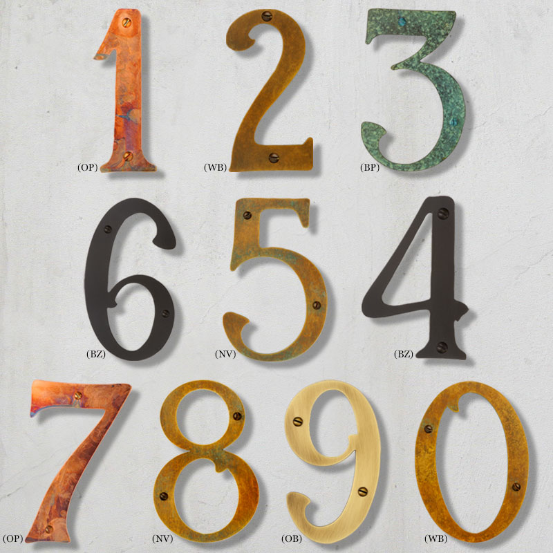 House Numbers | Mailbox Collections, etc.