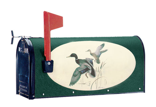 Nature Theme Mailbox Collections - Oval Graphics Post Mount Mailboxes made with nature themes - available in 14 designs, 3 colors and 2 sizes.
