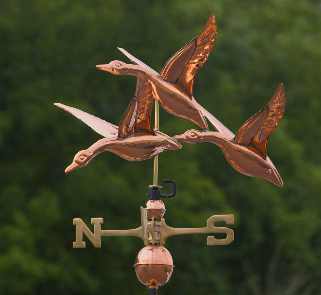 Standard Copper Weathervanes in Various Designs