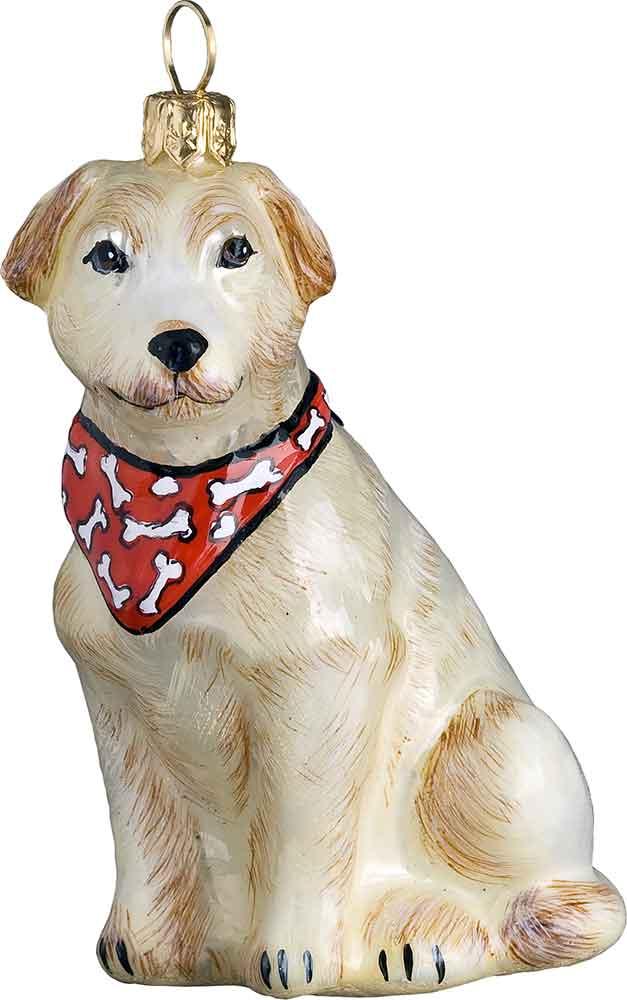 Labrador Retriever Yellow Bandana Dog Ornament