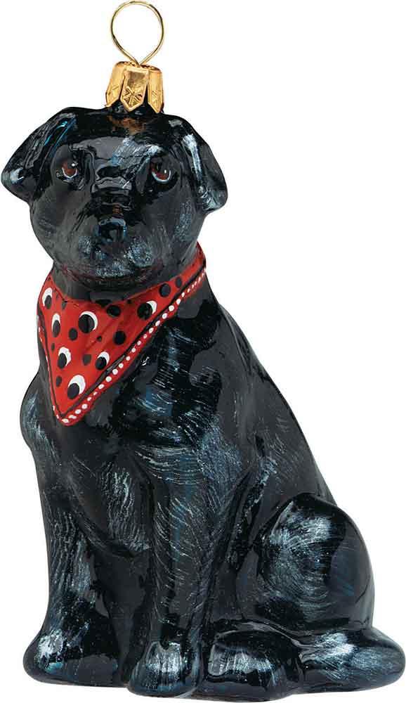 Labrador Retriever Bandana Dog Ornament
