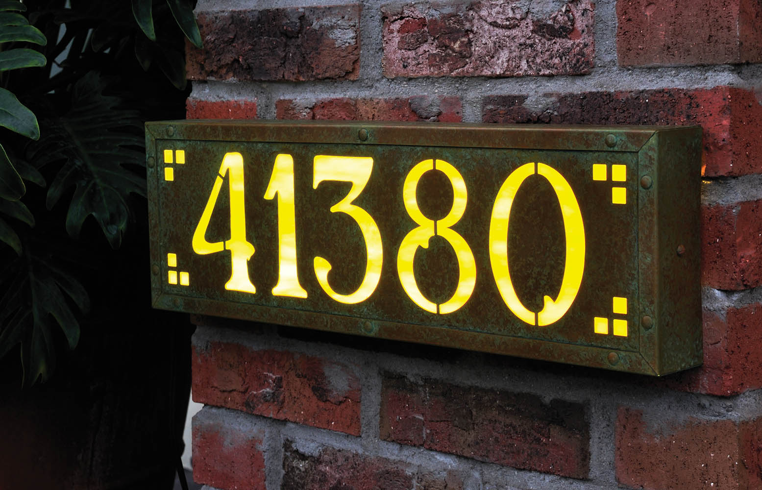 Illuminated House Number Signs