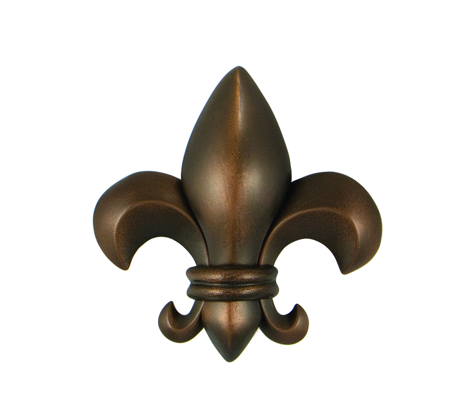 Fleur De Lis Premium Size Door Knocker Oiled Bronze
