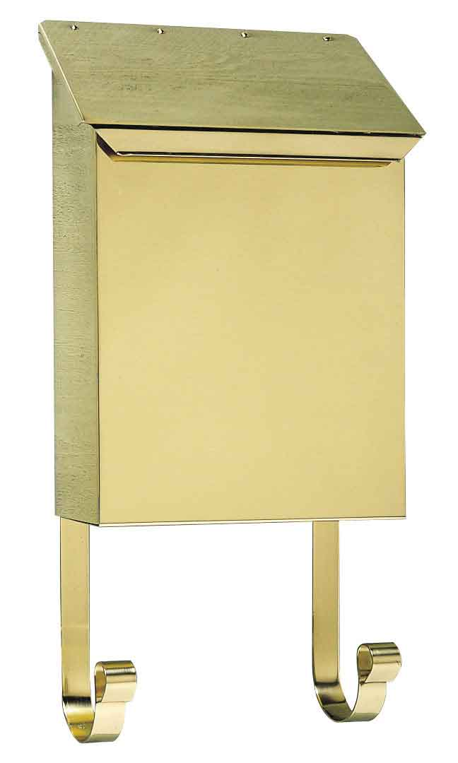 Polished Brass Vertical Wall Mailbox