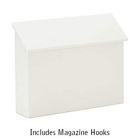 Standard Horizontal Wall Mount Mailboxes - available in four colors