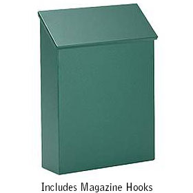 Standard Vertical Wall Mount Mailboxes available in 4 Colors