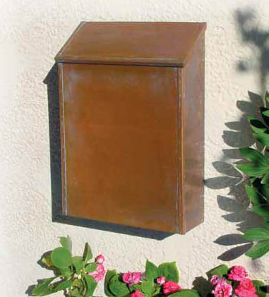 brass and copper post mount and wall mount mailboxes