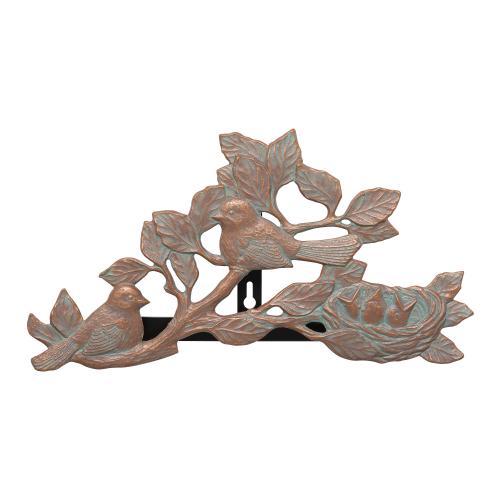 Chickadee Hose Holder - Copper Verdigris