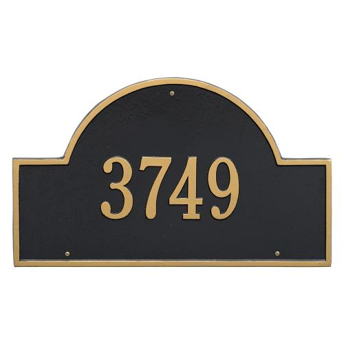 Arch Marker - Estate Size - One Line Wall Mount - Black/Gold
