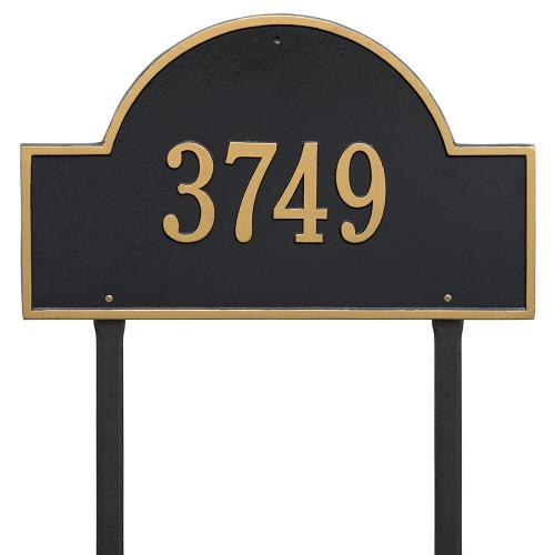 Arch Marker - Estate Lawn - One Line - Black/Gold