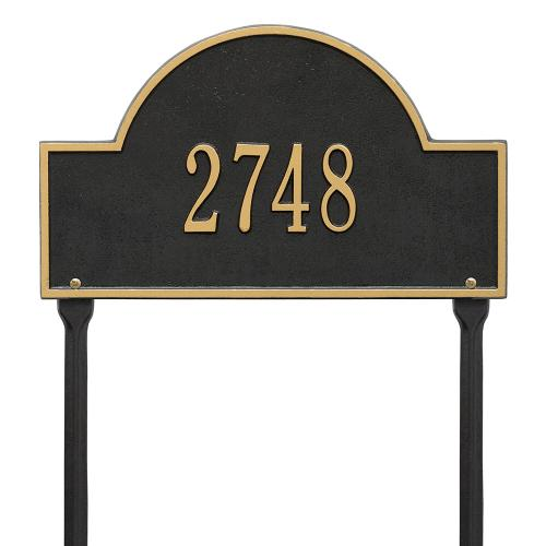Arch Marker - Standard Lawn - One Line - Black/Gold