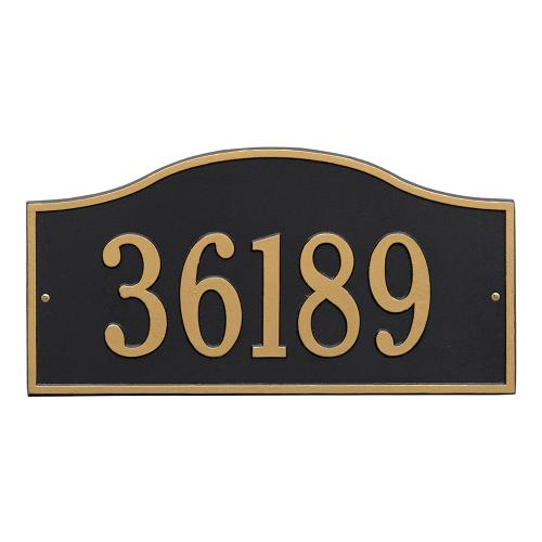 Rolling Hills Plaques - Grand Wall - One Line - Black/Gold