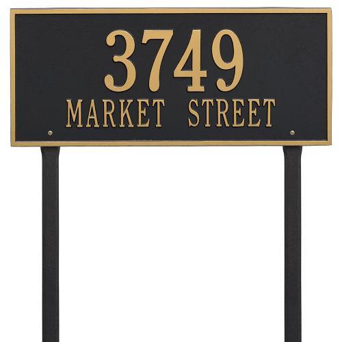 Hartford - Estate Lawn - Two Line - Black/Gold