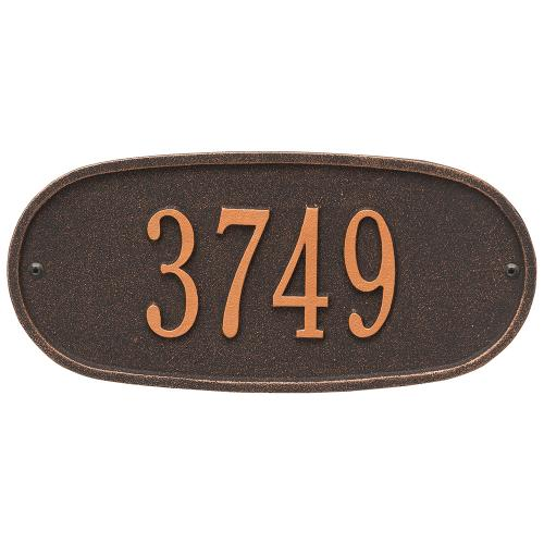 Oval Plaque - Std Wall - One Line - Oil Rubbed Bronze