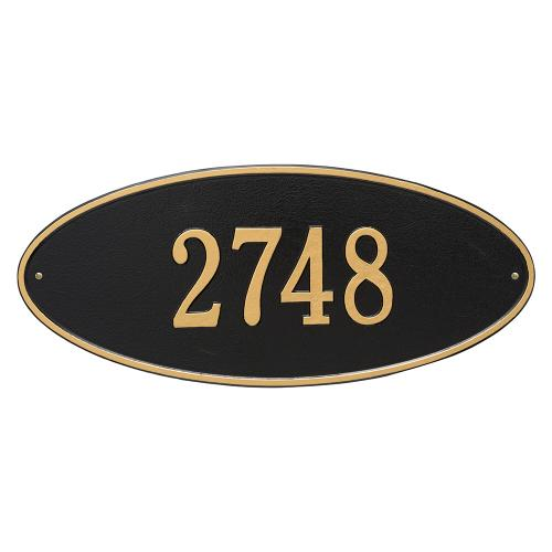 Madison Oval - Estate Wall - One Line - Black/Gold