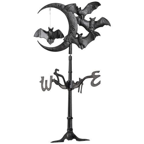 Halloween Bat Rooftop Weathervane - Black