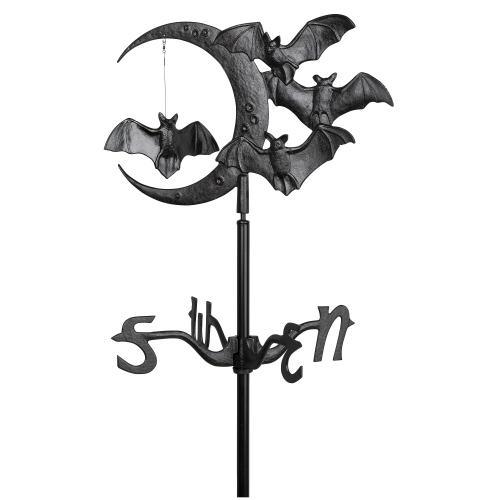 Halloween Bat Garden Weathervane - Black