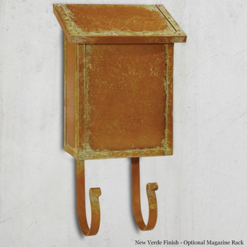 Classic Vertical Brass Wall Mailbox