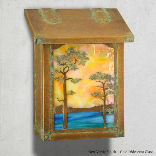 Monterey Pine Vertical Wall Mailbox