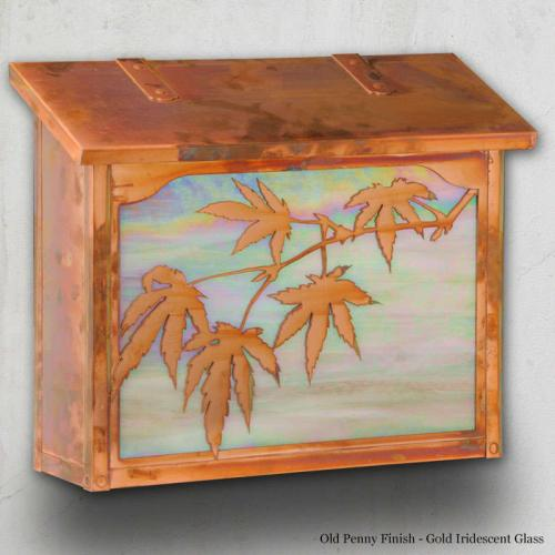 Japanese Maple Large Horizontal Wall Mailbox