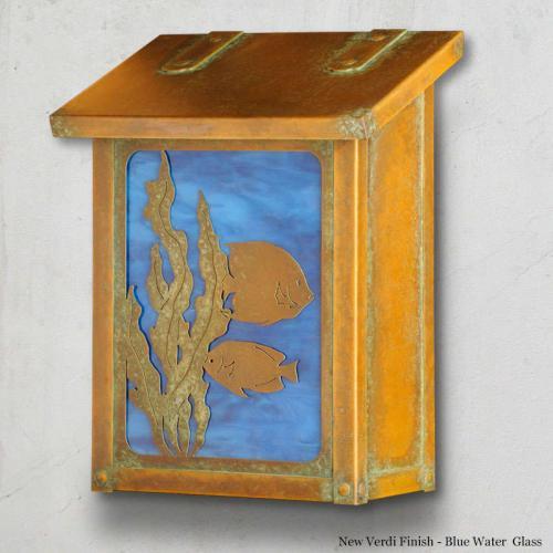 Fish Vertical Brass Wall Mailbox