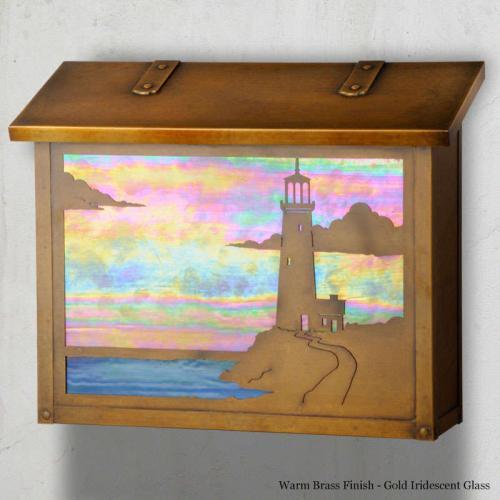 Lighthouse Large Horizontal Wall Mailbox