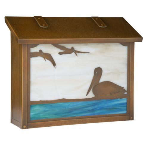 Pelican Large Horizontal Wall Mailbox