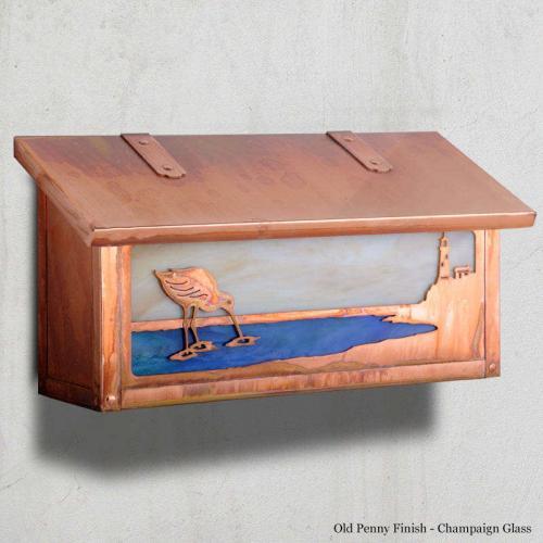 Shorebird Horizontal Wall Mailbox
