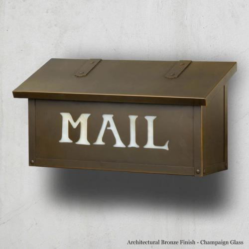 MAIL Classic Horizontal Wall Mount Mailbox