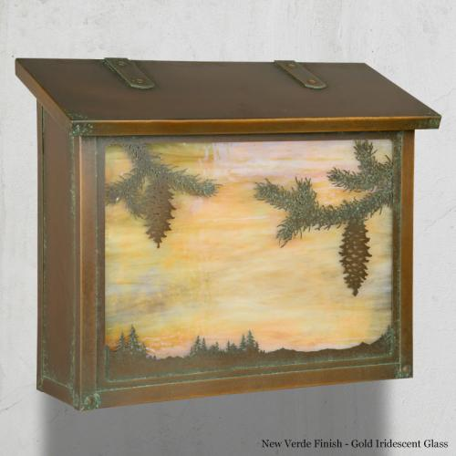 Spruce Tree with Pinecones Large Horizontal Wall Mailbox