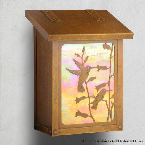 Hummingbird Vertical Wall Mailbox