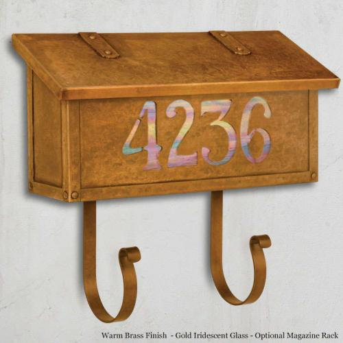Classic Numbers Horizontal Wall Mailbox