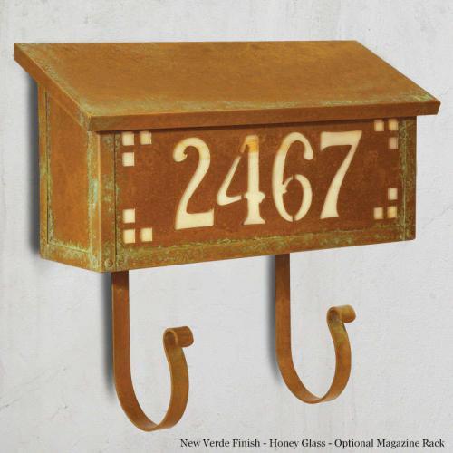 Pasadena Numbers Wall Mailbox