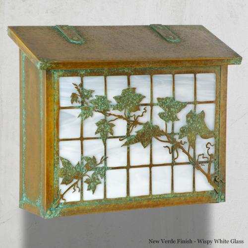 English Ivy Large Horizontal Wall Mailbox