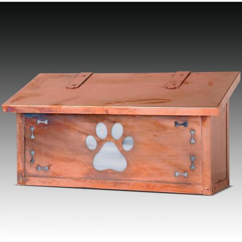 Dog Paw Print Horizontal Wall Mailbox