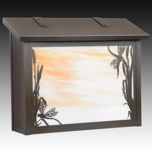 Dragonfly Large Horizontal Wall Mailbox