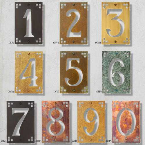 Framed Pasadena Cut Out House Numbers