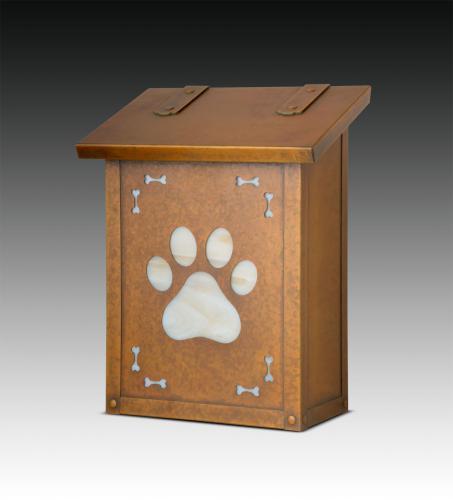Dog Paw Print Vertical Wall Mailbox