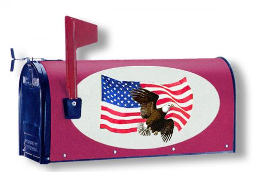 Oval Graphic Mailbox - Style: American Freedom