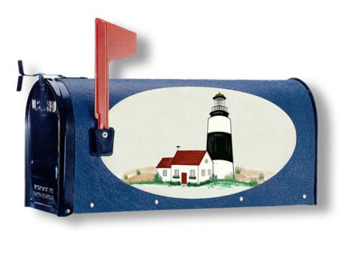 Oval Graphic Mailbox - Style: Lighthouse