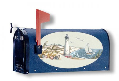 Oval Graphic Mailbox - Style: Seaside