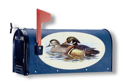 Oval Graphic Mailbox- Style: Wood Ducks