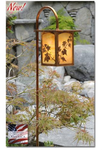 English Ivy Garden Lantern (Flat Roof/Curved Stake)