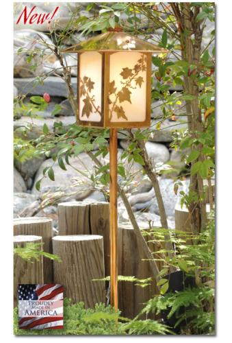 English Ivy Garden Lantern (Peaked Roof/Straight Stake)