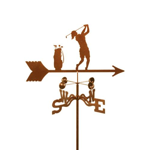 Golfer (Female) Garden Weathervane