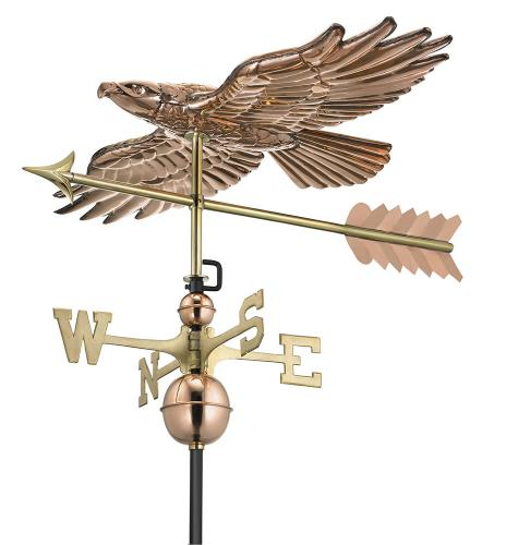 Hawk in Flight Copper Weathervane