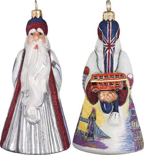 British Santa with Double Decker Bus
